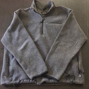 VINTAGE JCREW FLEECE QUARTERZIP SIZE L